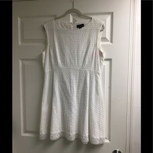 Tahari white cotton dress size 12P